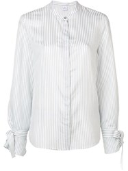 Paul Smith Ps Band Collar Striped Shirt White