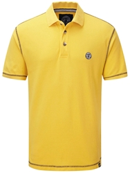 Tog 24 Holt Plain Polo Regular Fit Polo Shirt Lemon