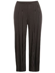 Evans Monochrome Striped Palazzo Trouser Black White
