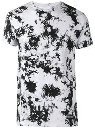 Les Artists Art Ists Number Splatter Print T Shirt White
