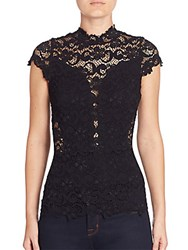 Nightcap Clothing Day To Date Lace Top Black