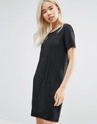Vila Metallic T Shirt Dress Black