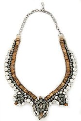 Valentino Crystal And Satin Necklace Silver