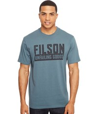 Filson Short Sleeve Outfitter Graphic T Shirt Faded Blue Boundary Men's T Shirt
