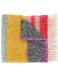 Paul Smith Ps Embroidered Logo Scarf Pink