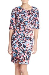 Women's Nydj 'Sandra' Stretch Crepe Sheath Dress Rainbow
