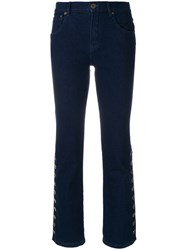 Chloe Bootcut Jeans Cotton Polyester Polyurethane Blue
