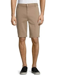 7 For All Mankind Stretch Chino Shorts Khaki