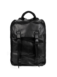 Lanvin Leather And Textured Fabric Backpack