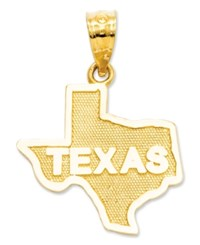 Macy's 14K Gold Charm State Of Texas Charm