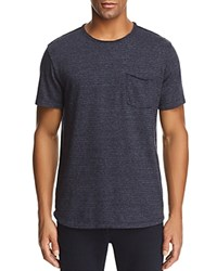 Velvet By Graham And Spencer Striped Crewneck Short Sleeve Tee Midnight Blue