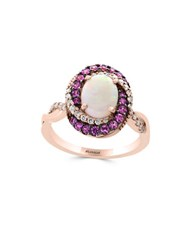 Effy Diamond Opal Pink Sapphire And 14K Rose Gold Ring