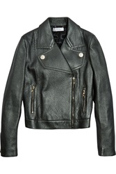 Versace Metallic Leather Biker Jacket