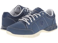 Therafit London Oxford Navy Women's Lace Up Casual Shoes