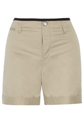Rag And Bone Ashbury Cotton And Linen Blend Shorts Nude