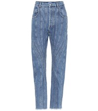 Thierry Mugler Paneled High Rise Jeans Blue