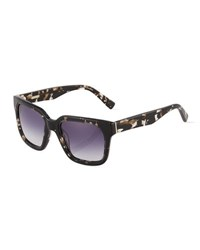 Derek Lam Bleecker Square Plastic Sunglasses Black