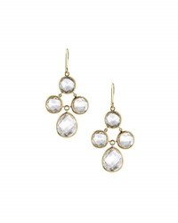 Elizabeth Showers Audrey White Quartz Chandelier Earrings Gold