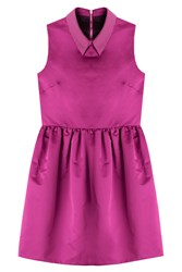 Mcq By Alexander Mcqueen Mcq Alexander Mcqueen Satin Dress With Embellished Collar Pink