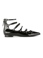 Schutz Patent Leather Ballerinas Black