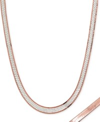 Giani Bernini Two Tone Reversible 16 Chain Necklace In Sterling Silver And 18K Gold Plate Created For Macy's Silver Rose