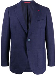 Isaia Fitted Single Breasted Blazer 60