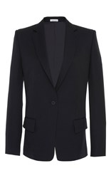 Tomas Maier Notched Lapel Single Breasted Blazer Jacket Navy
