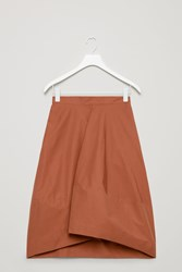 Cos A Line Skirt With Front Pleat Orange
