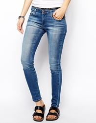Calvin Klein Jeans Mid Rise Super Skinny Jeans Midwashblue
