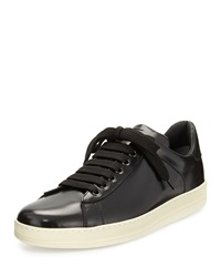 Tom Ford Russell Low Top Calfskin Sneaker Black