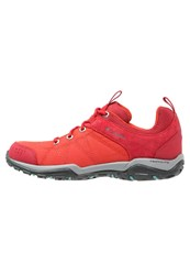 Columbia Fire Venture Walking Shoes Super Sonic Teal Red