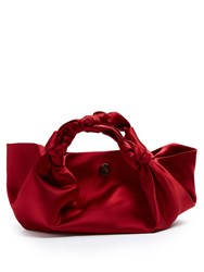 The Row Ascot Satin Clutch Red