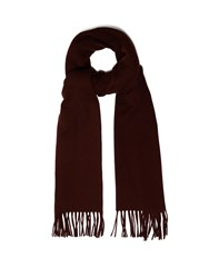 Acne Studios Canada Narrow Wool Scarf Burgundy