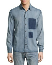 Cheap Monday Distressed Chambray Shirt Black