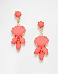 Johnny Loves Rosie Gem Drop Earrings Coral
