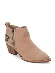Dolce Vita Saylor Side Zip Booties Taupe