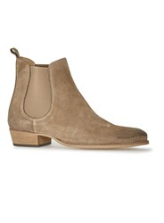 Topman Taupe Suede Chelsea Boots Brown