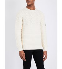 Belstaff Waresley Chunky Knit Jumper Light Canvas