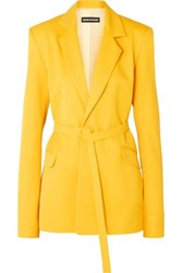 House Of Holland Belted Twill Blazer Yellow