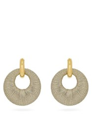 Lizzie Fortunato Orb Cord And Gold Plated Hoop Earrings Beige