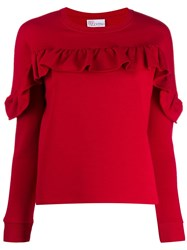 Red Valentino Ruffled Detail Sweatshirt 60