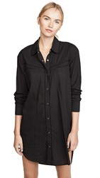 James Perse Embroidered Western Dress Black