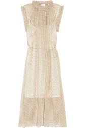 Zimmermann Mischief Floral Print Georgette Midi Dress Cream