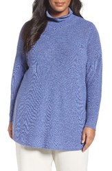 Eileen Fisher Plus Size Women's Fine Rib Merino Turtleneck Tunic