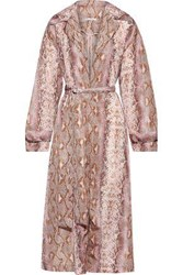 Emilia Wickstead Woman Wallace Belted Snake Print Shell Coat Animal Print