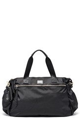 Hayden Harnett 'Voyager' Water Resistant Nylon Weekend Bag Black
