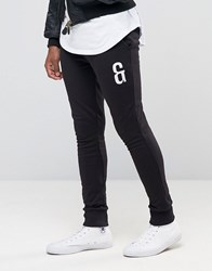 Only And Sons Sweat Joggers With Leg Embroidery Black