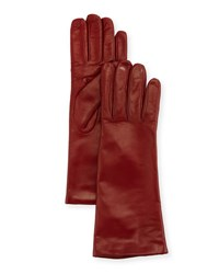 Portolano Cashmere Lined Napa Leather Gloves Red