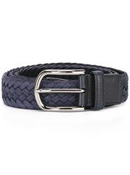 Tod's Interlaced Leather Belt Blue