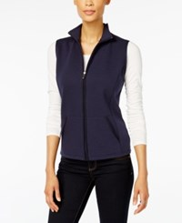 Karen Scott Petite Quilted Vest Created For Macy's Intrepid Blue